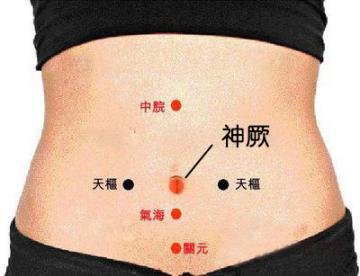 脐穴药离子导入疗法